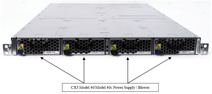 CX3-40 / CX3-40c Power Supplies   and Cooling